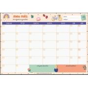 Bloco Planner Mensal Happy Time