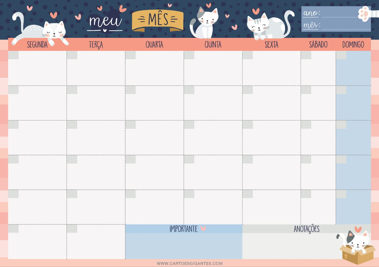Bloco Planner Mensal