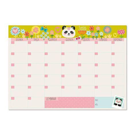 Bloco Planner Mensal Panda