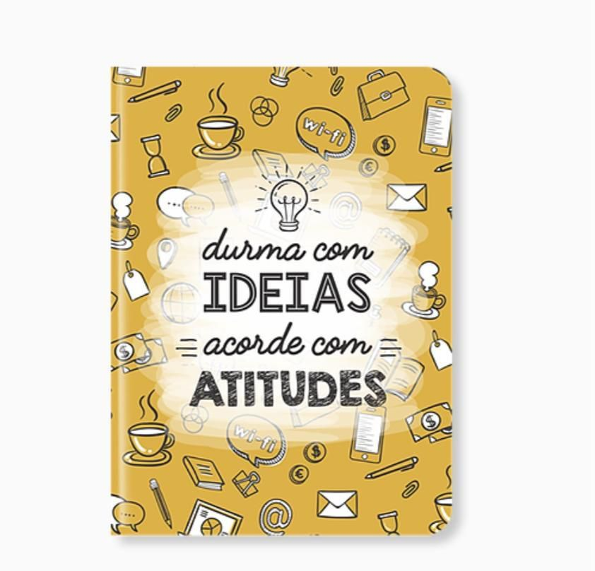 Caderneta Durma Com Ideias Acorde Com Atitudes