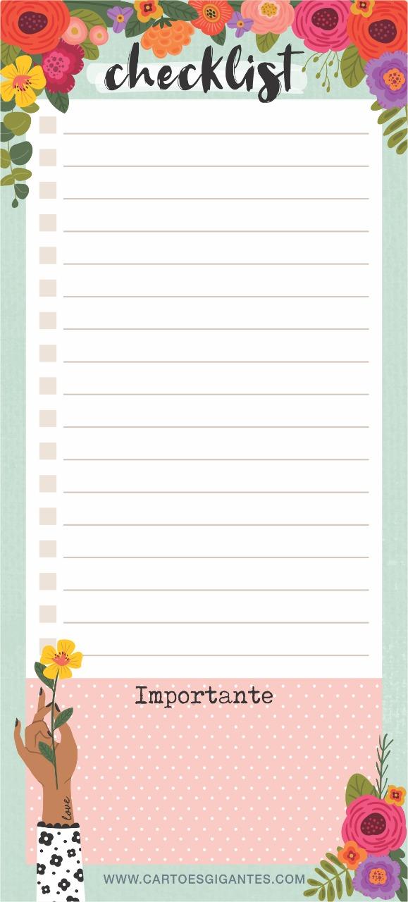 Check List Florir