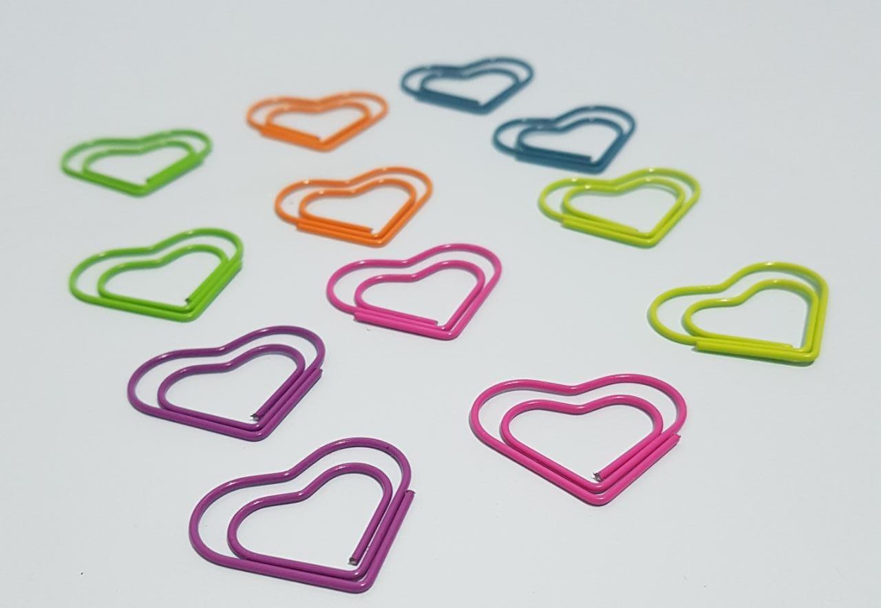 Clips Coração Colorido
