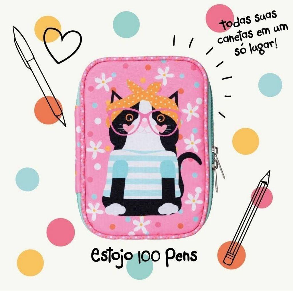 Estojo Happy Mia 100 Pens