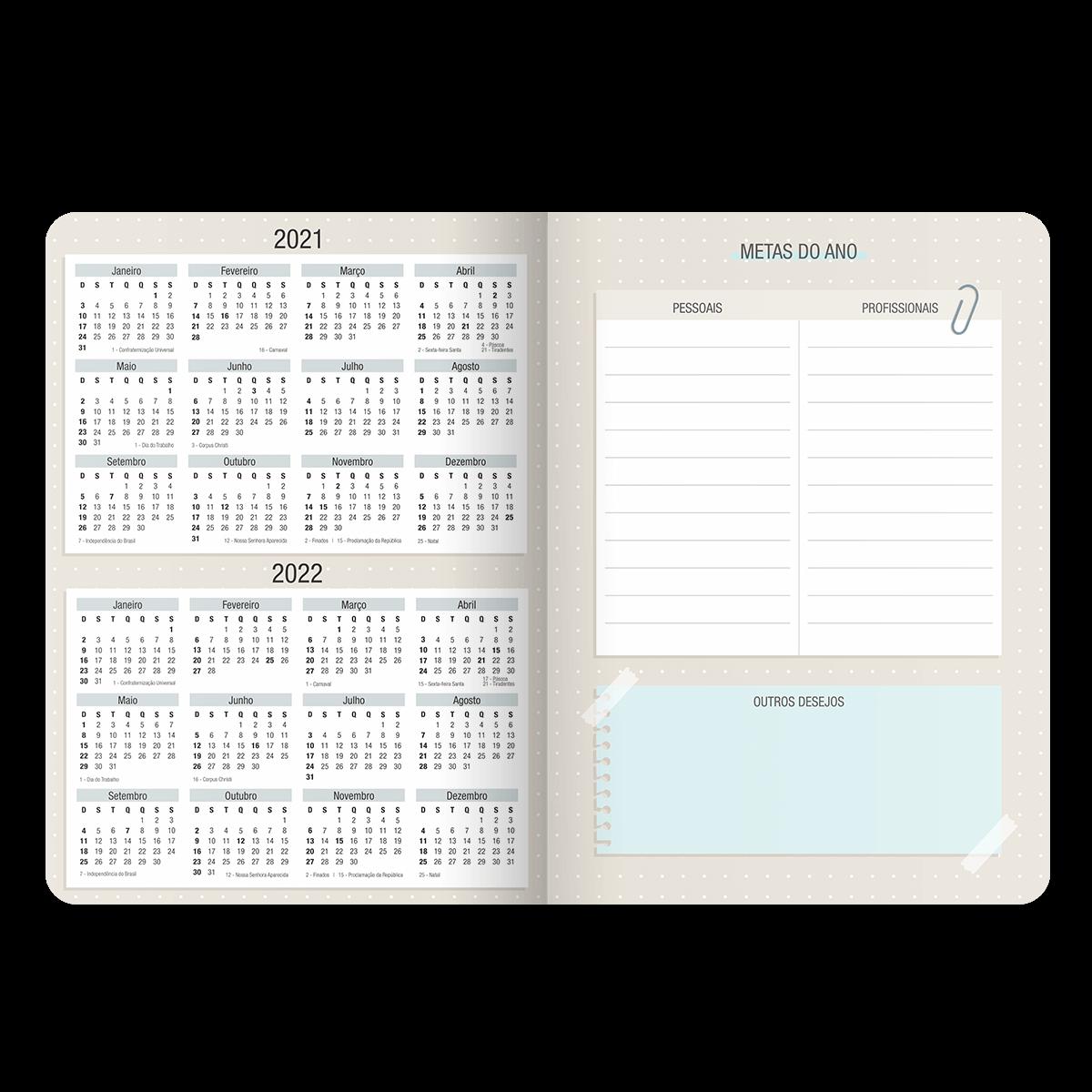 Planner Mensal Cartões Gigantes 2021