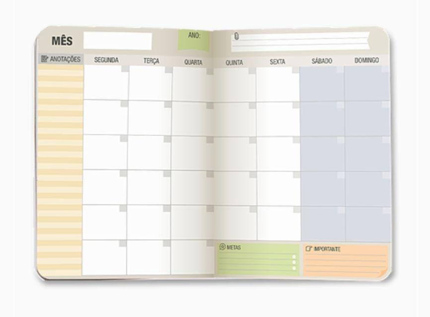 Planner Mensal Cartões Gigantes
