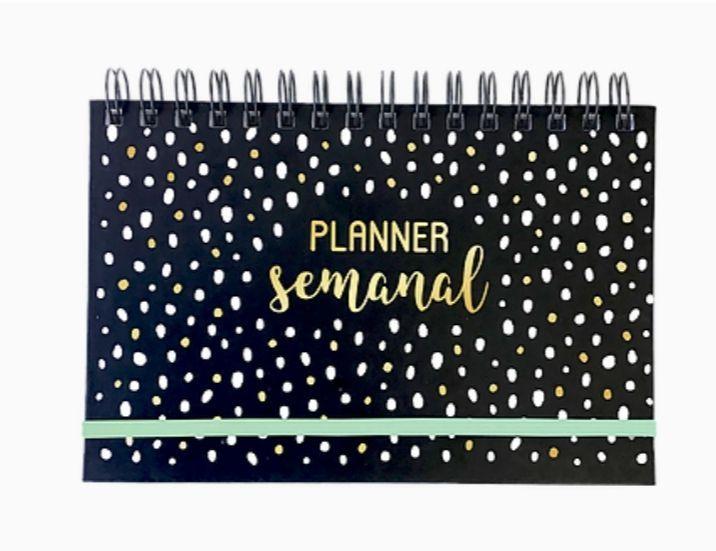 Planner Semanal Branco e Preto