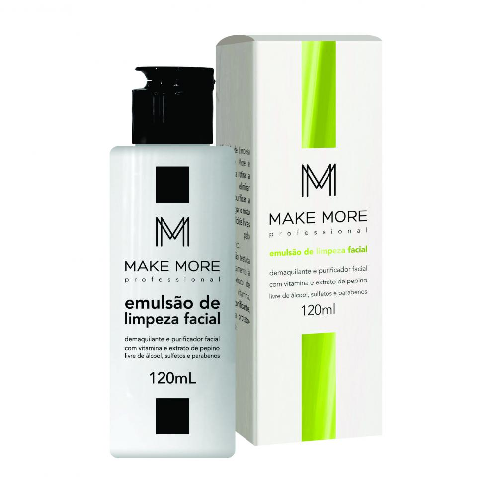 EMULSÃO DE LIMPEZA FACIAL 120ml - MAKE MORE