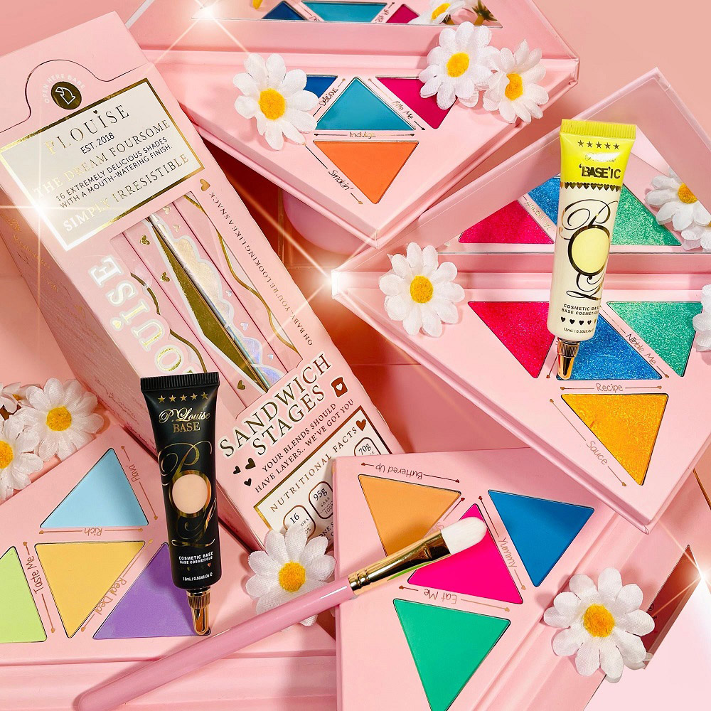 KIT PALETA DE SOMBRA+ BASE COLORIDA+ BASE SHADE + PINCEL