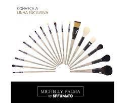 KIT PINCEIS 18 PEÇAS + NECESSAIRE MICHELLY PALMA - SFFUMATO