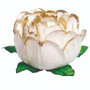 Forminha Bela Branco Borda Dourado