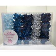 Forminha Madri Kit Comemore 1 ( Azul Bebê, Azul Royal, Azul Piscina e Cinza)