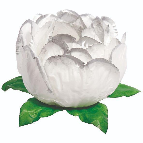 Forminha Bela Branco Borda Prata