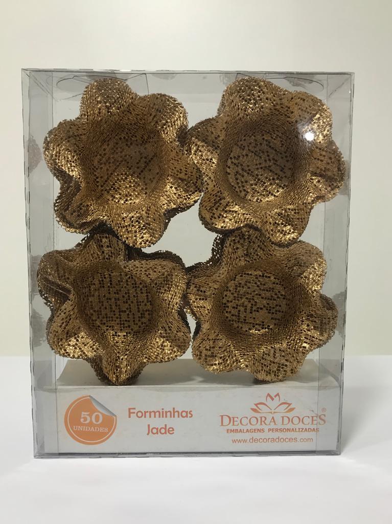 Forminha Jade / Tela Dourado Cintilante