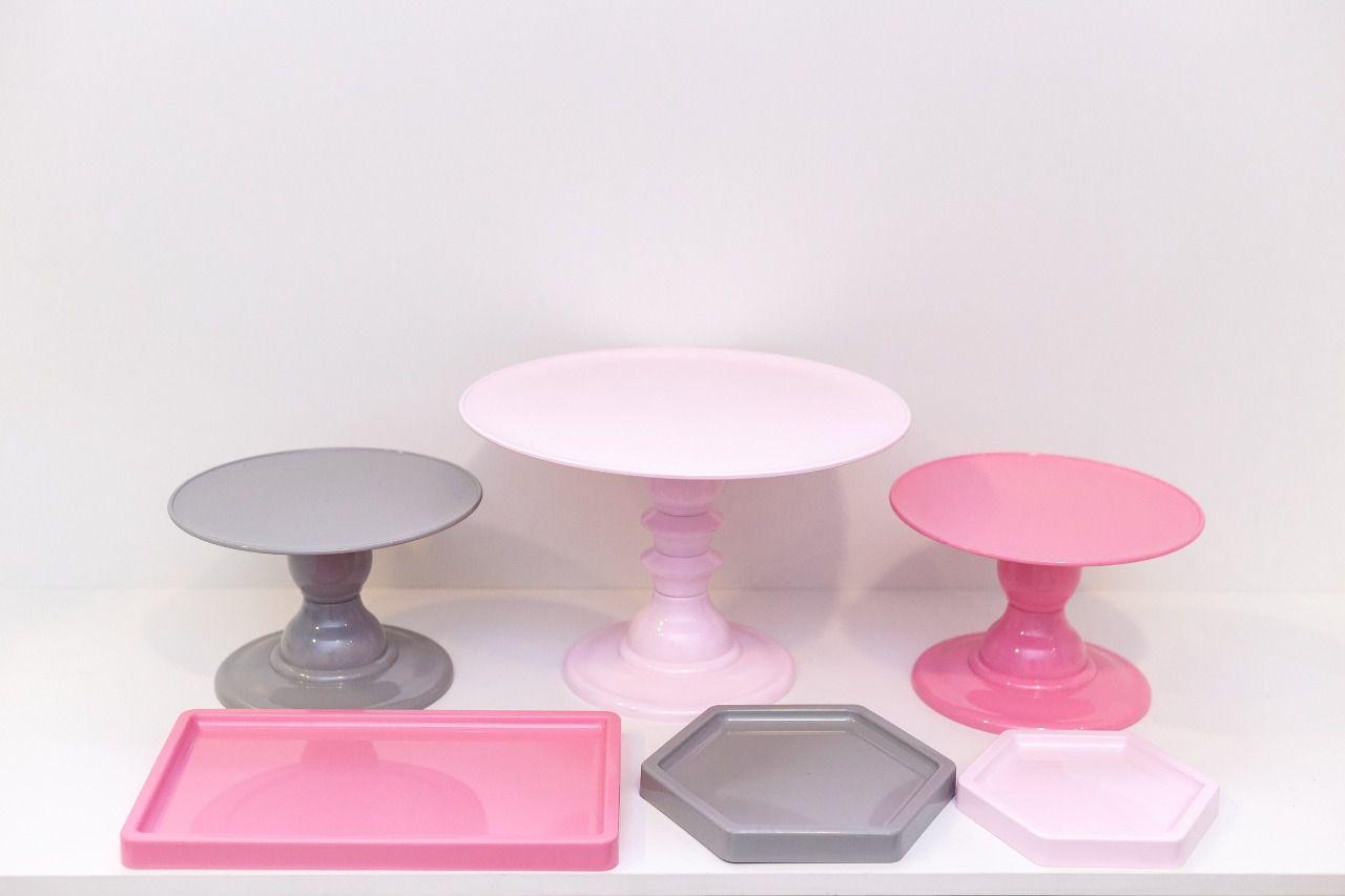 Kit Comemore 2 ( Rosa, Rosa Claro e Cinza)