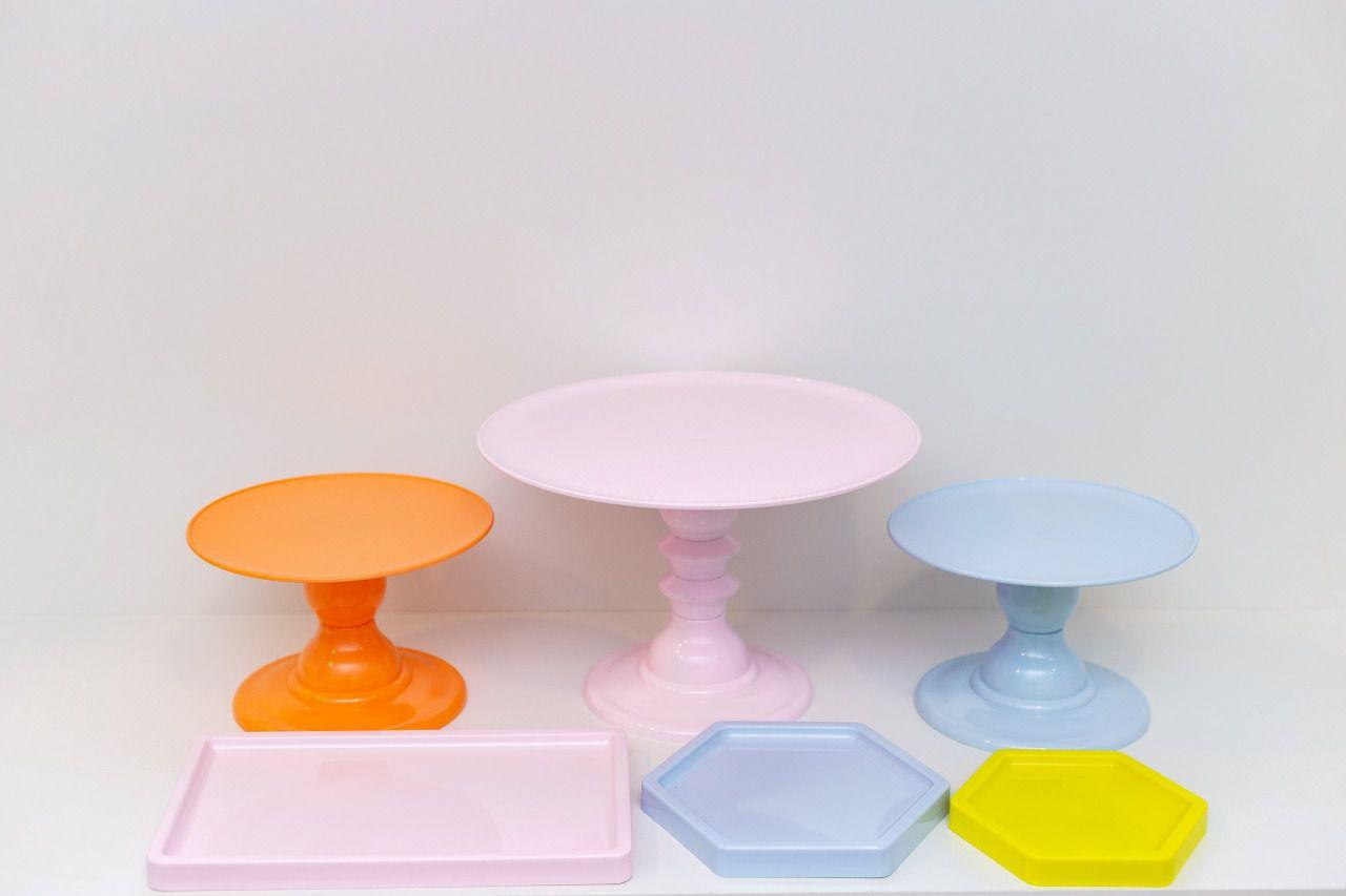 Kit Comemore 3 ( Azul Candy, Rosa Claro,Amarelo Neon e Papaya )