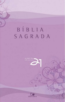 Bíblia Almeida Século 21 brochura - lilás c/ referências cruzadas