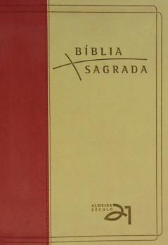 Bíblia Almeida Século 21 Luxo - vermelha e areia c/ referências