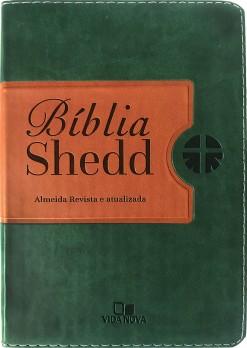 Bíblia Shedd - verde e marrom