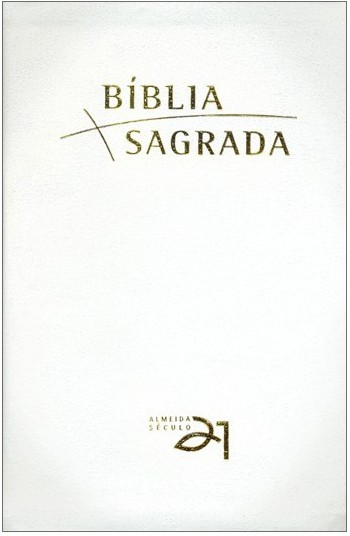 Bíblia A21 Luxo - recouro branco c/ referências cruzadas