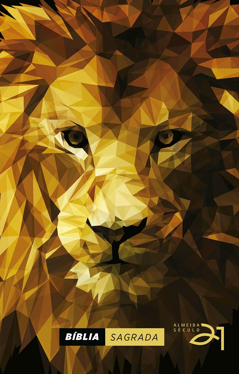 Bíblia Almeida Século 21 capa dura - Lion efeito Low Poly