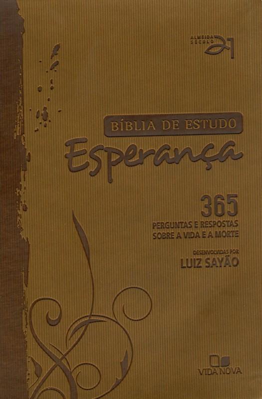 Bíblia de estudo Esperança - Capa Marrom