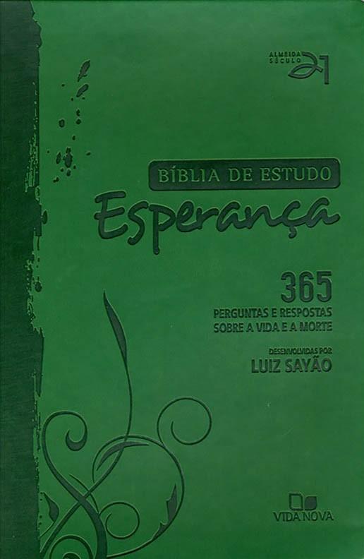 Bíblia de estudo Esperança - Capa Verde