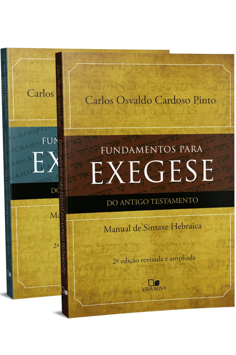 Kit Fundamentos para exegese (AT e NT) - 2 vols.