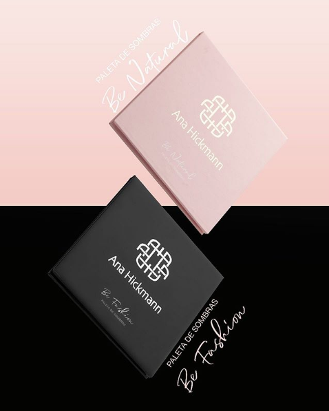 Ana Hickmann kit Paletas de Sombras Be Fashion + Be Natural + BRINDE Necessaire