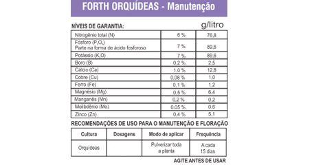 Fertilizante Forth Orquídeas Manutenção  - Pronto para Uso