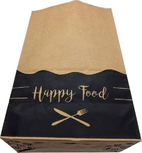 100 Sacos De Papel Kraft M Para Delivery De Lanches 24x30x14 (HAPPY FOOD)
