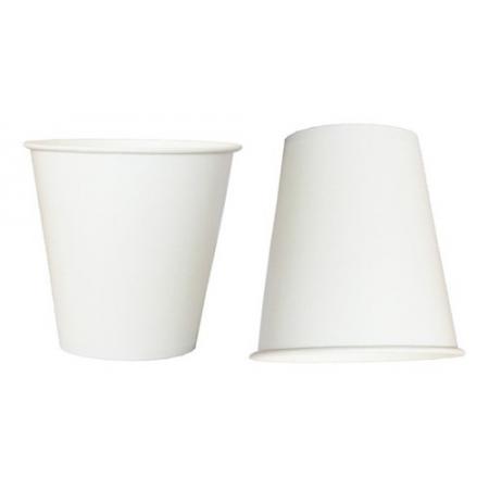 1200 Copos De Papel P/ Chá Café 100 Ml Branco Biodegradável