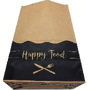 100 Sacos De Papel Kraft P Para Delivery De Lanches 18x28x11 (HAPPY FOOD)