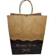 300 Sacolas De Papel Para Restaurante Delivery 24x30x14 (HAPPY FOOD)