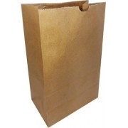 50 Sacos Kraft Delivery Médio Fast Food Entregas 24x30x14