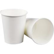 600 Copos De Papel Para Chá Água 300 Ml Branco Biodegradável