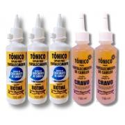 - Gota Dourada Tonico Fortalecedor - 3 Tonicos de Biotina + 2 Tonicos de Cravo