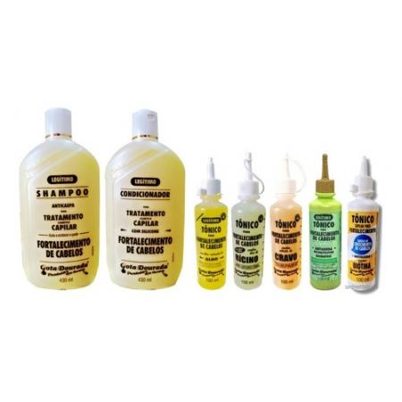 Gota Dourada Kit Shampoo+cond Tradicional + 5 Tônicos
