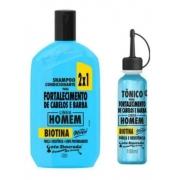 - Kit Gota Dourada Homem Shampoo 430ml + Tônico Cabelo E Barba