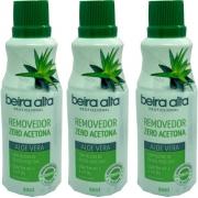 Removedor Esmalte Beira Alta 90ml Aloe Vera Kit C/3