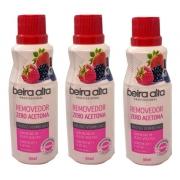 Removedor Esmalte Beira Alta 90ml Frutas Vermelhas Kit C/3