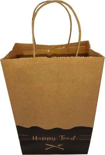 100 Sacolas De Papel Entrega Lanches Delivery 18x28x11 (HAPPY FOOD)