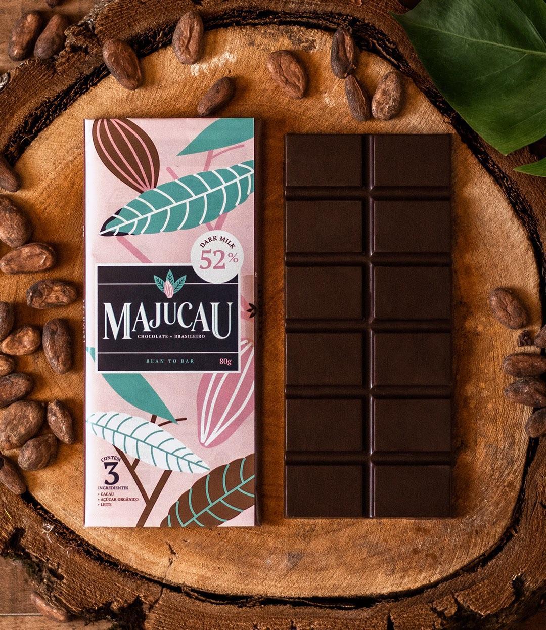 Majucau - Chocolate Dark Milk 52% Cacau - 80g