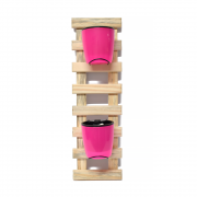 Horta Vertical Natural - Vasos Rosa Neon