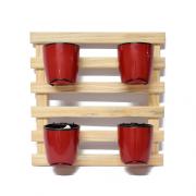 Horta Vertical Natural - Vermelho Vinho