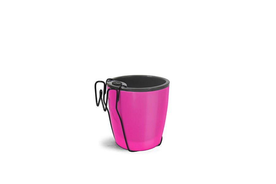 Horta Vertical Embuia - Vasos Rosa Neon