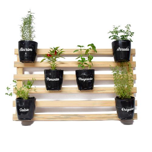 Horta Vertical Natural Seleção - Preto Onix