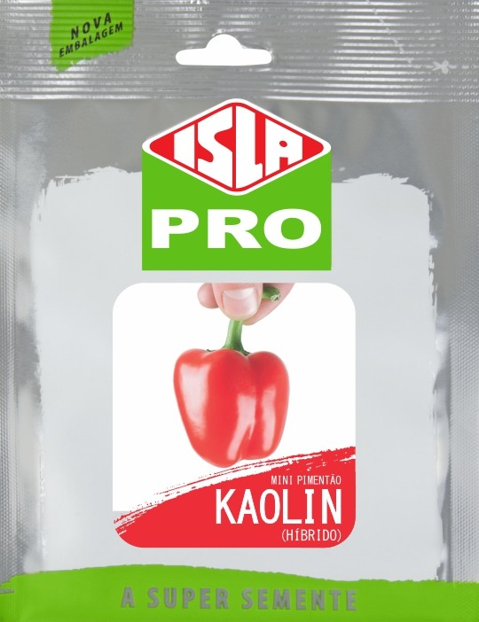 Semente de Mini Pimentão Vermelho Híbrido Kaolin