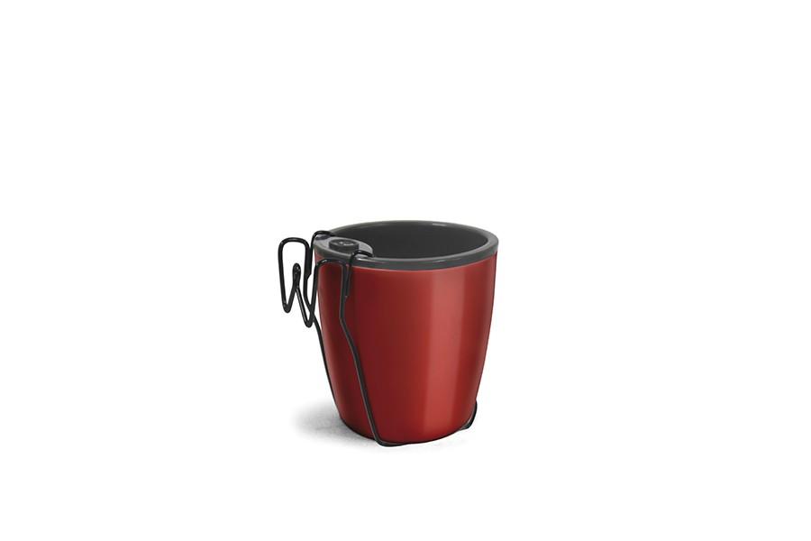 Vaso Auto Irrigável com Suporte - Vermelho Vinho