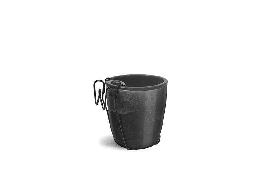 Vaso Auto Irrigável Seleção Preto - Morango