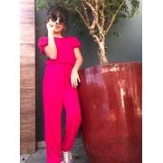 Macacão de malha pink